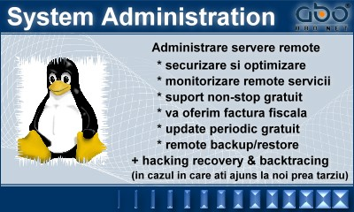 Administrare servere - SYSTEM ADMINISTRATION Nume .info